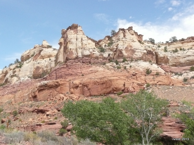 The rocks by Calf Creek Campground