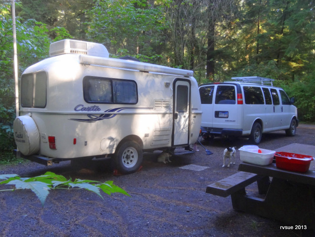A large, shady campground with few campers.  Rialto Beach is three miles away.