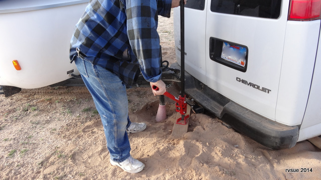 This is Byron cranking his new Harbor Freight jack.
