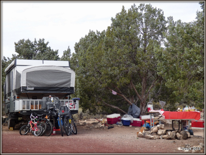 Baker Dam Reservoir Campground, north of St. George, Utah ...